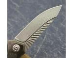 Складной нож Japanese VG10 Damascus Titanium Carbon NKOK824